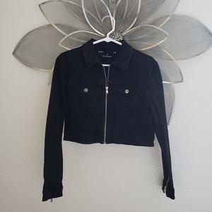 Aeropostale cropped  Black Jacket size small